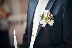 Wedding ceremony in church. Royalty Free Stock Photography