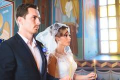 Wedding Ceremony at Church Stock Photos