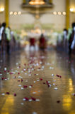 Wedding ceremony in church - out of focus Stock Photos