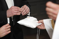 Wedding ceremony. In the church in Poland Royalty Free Stock Photography