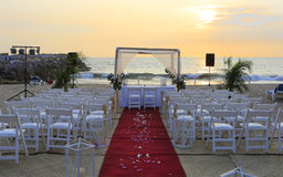 Wedding ceremony decor on the beach Royalty Free Stock Photography
