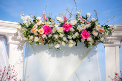 Wedding ceremony decoration outdoor Royalty Free Stock Images
