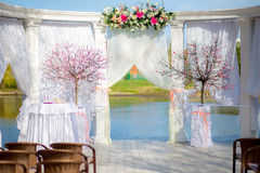 Wedding ceremony decoration outdoor Royalty Free Stock Photography