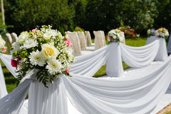 Wedding ceremony decorations. Floral bouquet Royalty Free Stock Photography