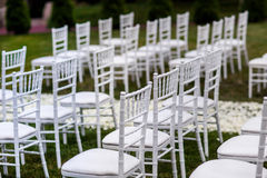 Wedding ceremony decorations Royalty Free Stock Images