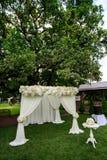 Wedding ceremony decorations Stock Photo