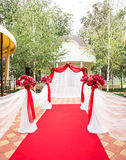 Wedding Ceremony Decorations Outdoors. Wedding in nature Royalty Free Stock Images