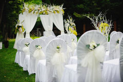 Wedding ceremony. Everything is ready Royalty Free Stock Images