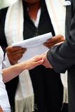 Wedding Ceremony - Exchanging of Rings Royalty Free Stock Photo
