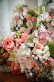 Wedding ceremony flowers Stock Photos