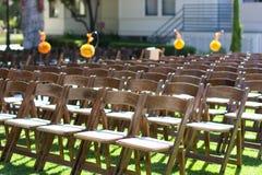 Wedding ceremony in garden Stock Photos