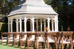 Wedding ceremony in garden Royalty Free Stock Photos
