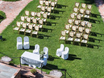 Wedding ceremony in a garden Stock Images