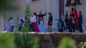 Wedding ceremony goes to an end