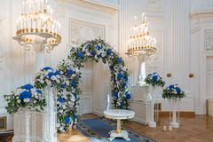 Wedding ceremony hall Royalty Free Stock Images