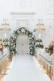 Wedding ceremony hall Stock Image