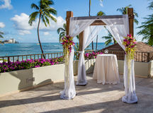 Wedding ceremony in Hawaii Royalty Free Stock Photography