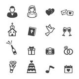 Wedding ceremony icons Royalty Free Stock Photography