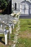 Wedding ceremony isle Royalty Free Stock Photos