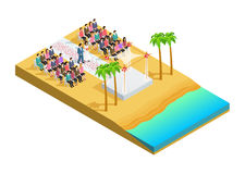Wedding ceremony isometric composition Royalty Free Stock Photography