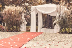 Wedding ceremony marquee Stock Image