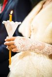 Wedding ceremony in orthodox church. Royalty Free Stock Images