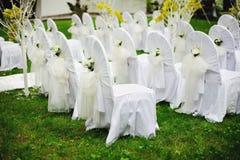 Wedding ceremony outside. Wedding ceremony, everything is ready Stock Images