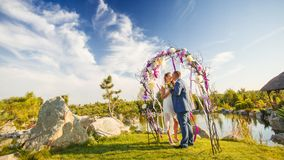 Wedding ceremony in park Royalty Free Stock Photography