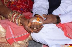 Wedding ceremony programme in india royalty free stock photography
