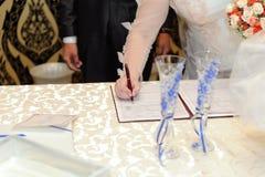 Wedding Ceremony in Restaurant Royalty Free Stock Photos