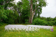 Wedding Ceremony Seating Outdoors Royalty Free Stock Image