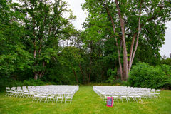 Wedding Ceremony Seating Outdoors Royalty Free Stock Photos