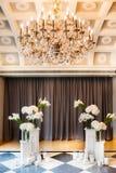 Wedding ceremony set up inside. Stock Photography
