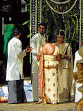 Wedding Ceremony of Sri Lankan Couples. Sri Lankan Couples Held Their Wedding Ceremony in the Local Temple in Colombo Stock Photos