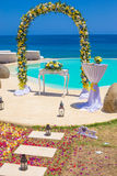 Wedding Ceremony at the Tropical Coast Line Stock Photos