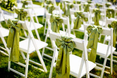 Wedding chair. S on the grass Royalty Free Stock Photo