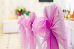 Wedding chair with bow. Stock Images