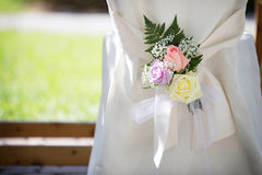 Wedding Chair Cover Stock Image