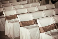 Wedding chair covers Royalty Free Stock Images