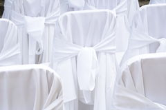 Wedding chair covers Stock Photos