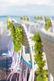 Wedding chair detail Stock Photo