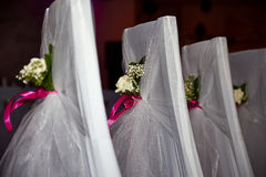 Wedding chair. In the hall for the wedding Royalty Free Stock Image