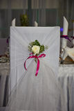 Wedding chair. In the hall for the wedding Royalty Free Stock Photo