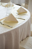 Wedding chair and table setting Stock Photography