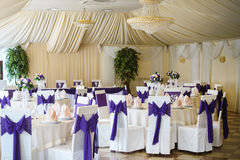 Wedding chair and table setting Royalty Free Stock Photography