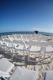 Wedding chairs on beach Royalty Free Stock Photo