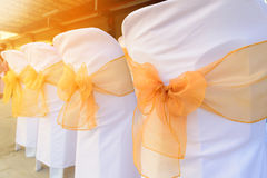 Wedding chairs. In wedding ceremony with sunlight Stock Image