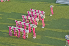 Wedding chairs Stock Photo