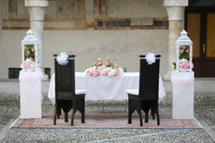 Wedding Chairs Covers Royalty Free Stock Photography