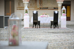 Wedding Chairs Covers Stock Photos